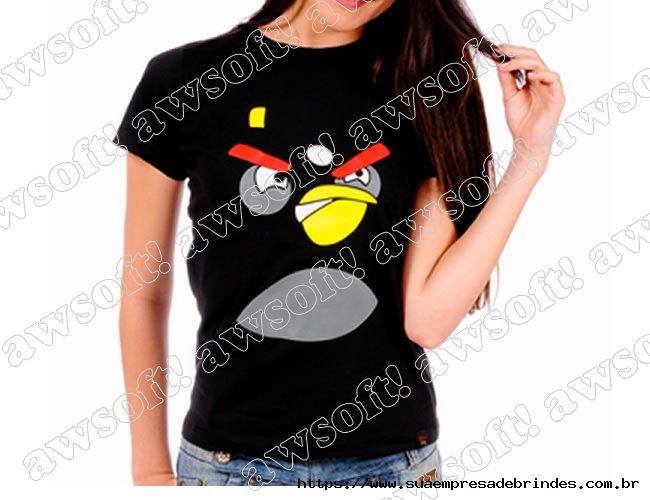 Camiseta Angry Bird Preta