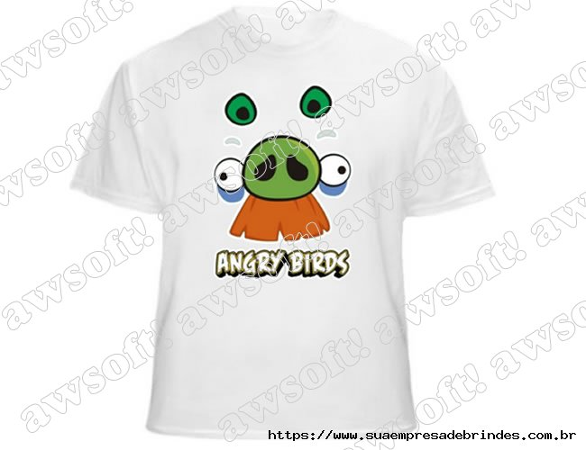 Camiseta Angry Bird Branca