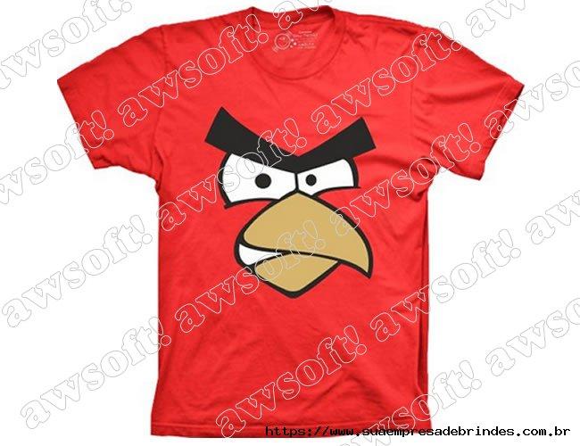 Camiseta Angry Bird Vermelha