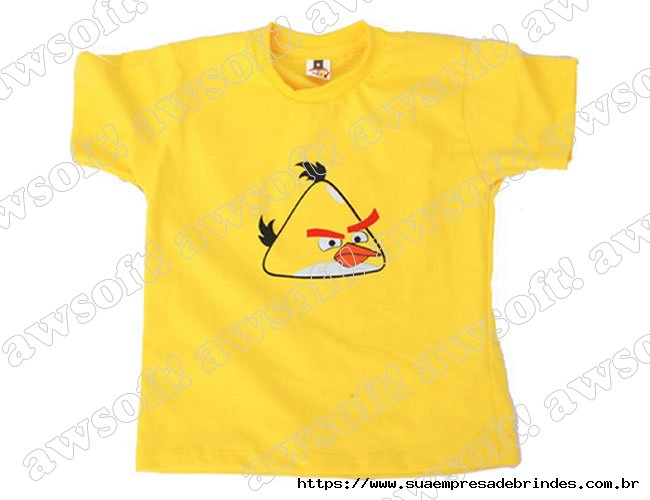 Camiseta Angry Bird Amarela