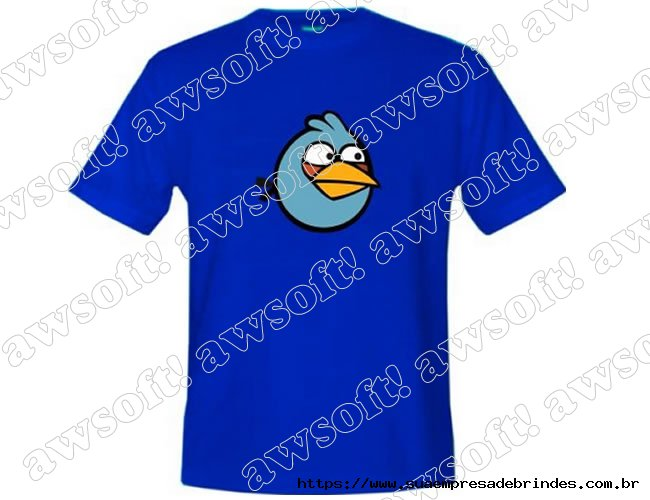 Camiseta Angry Bird Azul