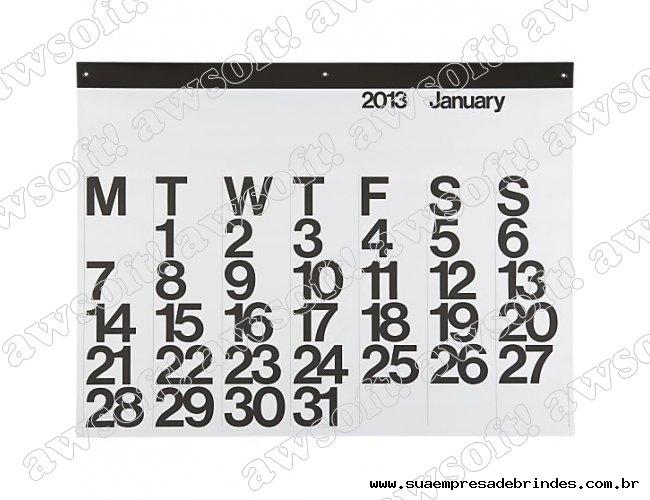 Calendário de Mesa modelo G